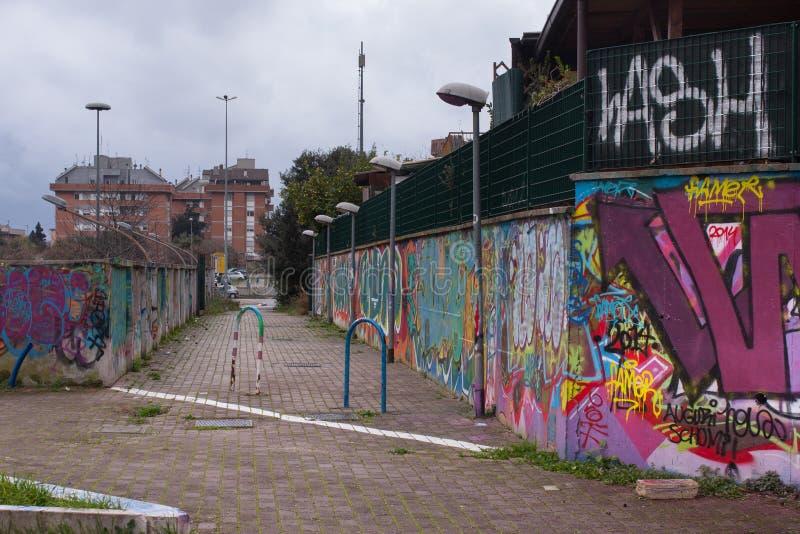 Итальянские пригороды в Риме, Италии стоковые фотографии rf