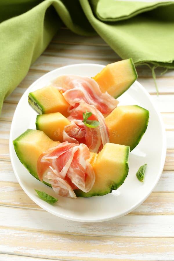 Итальянские antipasti (melone ветчины) стоковые фотографии rf