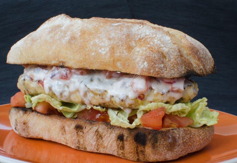 Итальянский бургер цыпленка стоковое фото rf