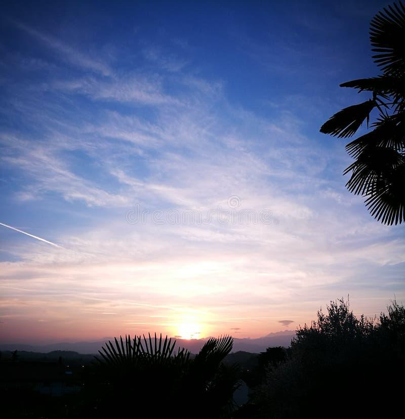 Итальянский заход солнца стоковое изображение rf