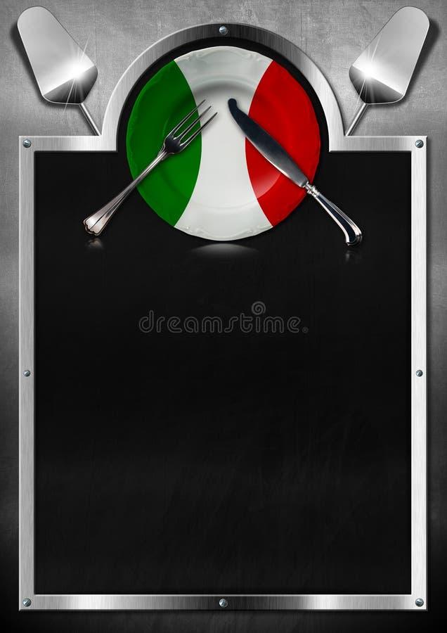 Итальянский дизайн меню ресторана бесплатная иллюстрация