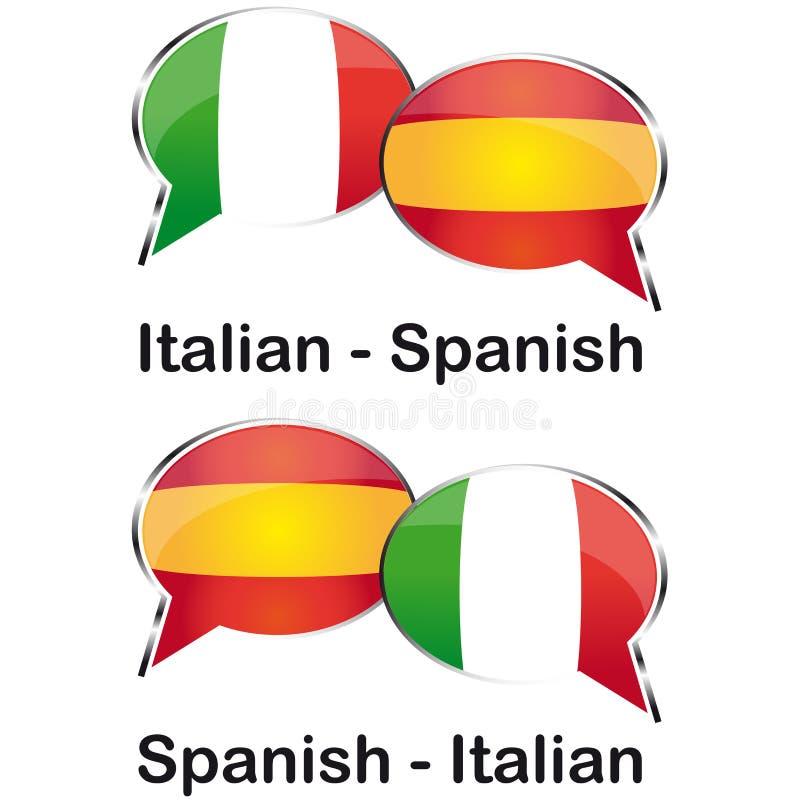 Итальянский испанский переводчик стоковая фотография rf