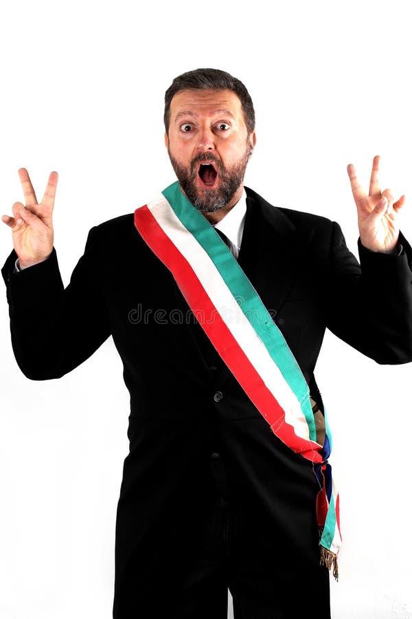 Итальянский мэр на белой предпосылке стоковые фото