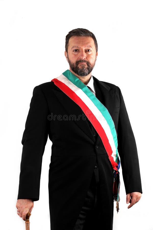 Итальянский мэр на белой предпосылке стоковая фотография