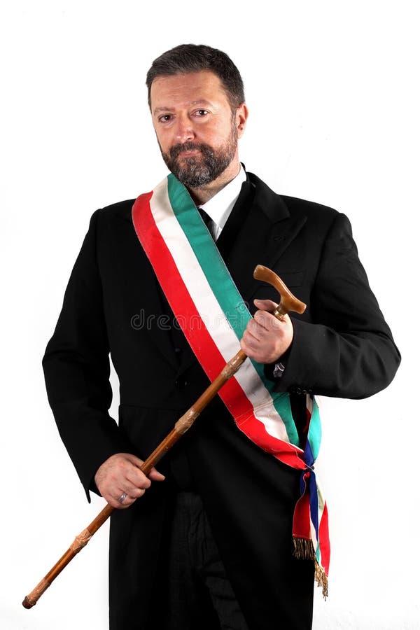 Итальянский мэр на белой предпосылке стоковые фотографии rf