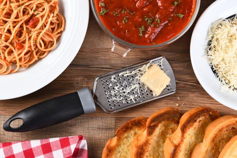 Итальянский обед стоковые изображения