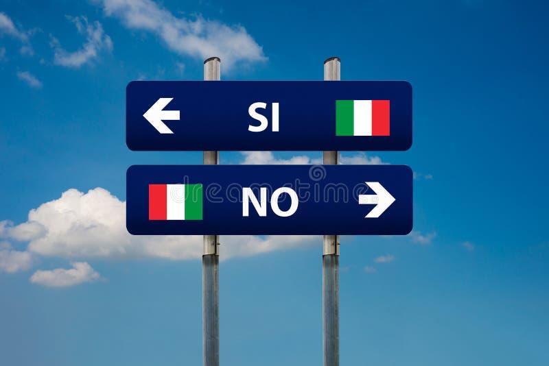 Итальянский референдум стоковые фотографии rf