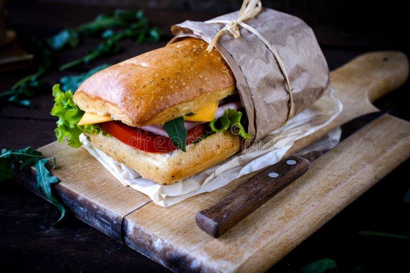 Итальянский сандвич panini стоковое изображение