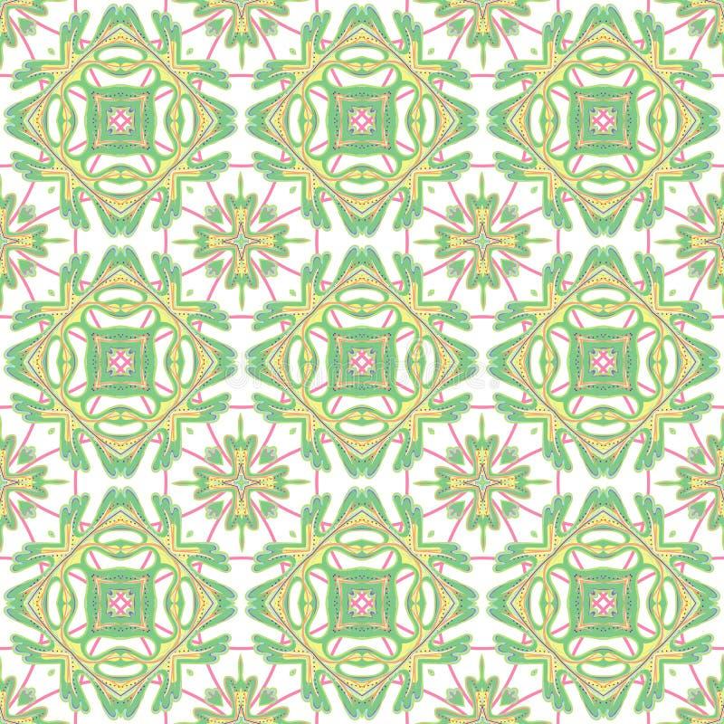 Итальянский традиционный орнамент, среднеземноморская безшовная картина, дизайн плитки, иллюстрация вектора иллюстрация вектора