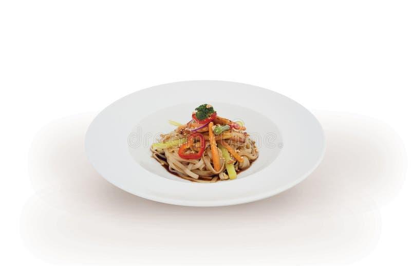 итальянский vegetarian макаронных изделия стоковое изображение rf