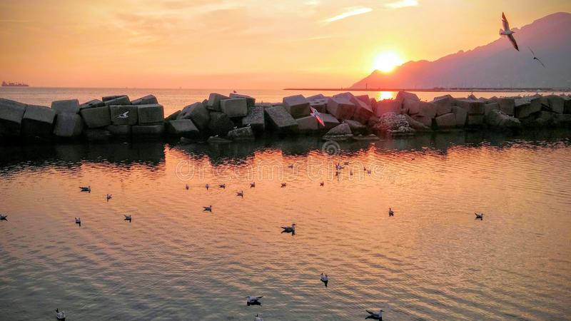 итальянское море стоковая фотография rf
