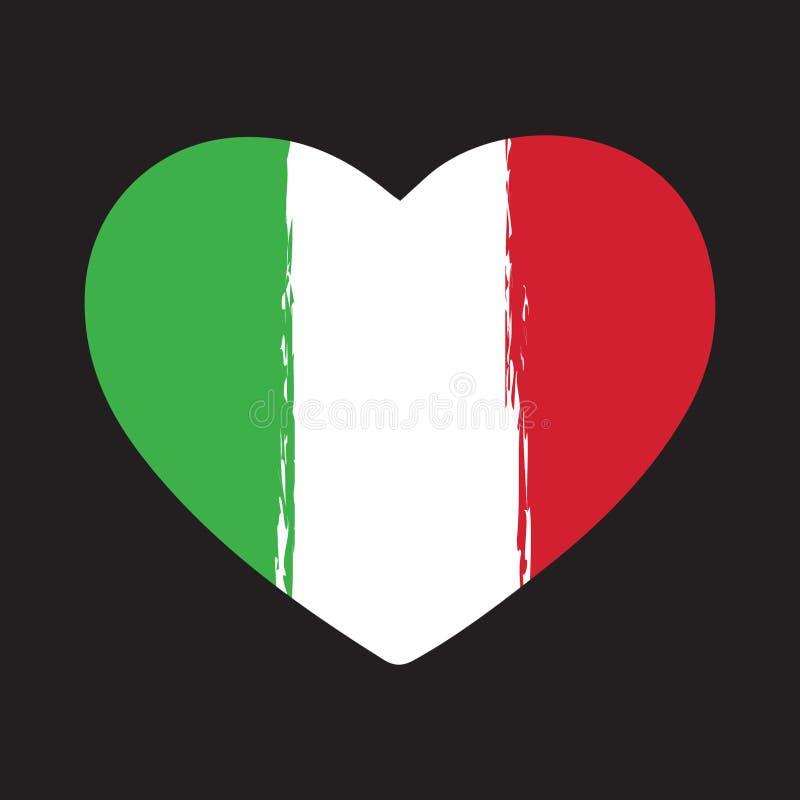 Итальянское сердце Brushstroke флага бесплатная иллюстрация