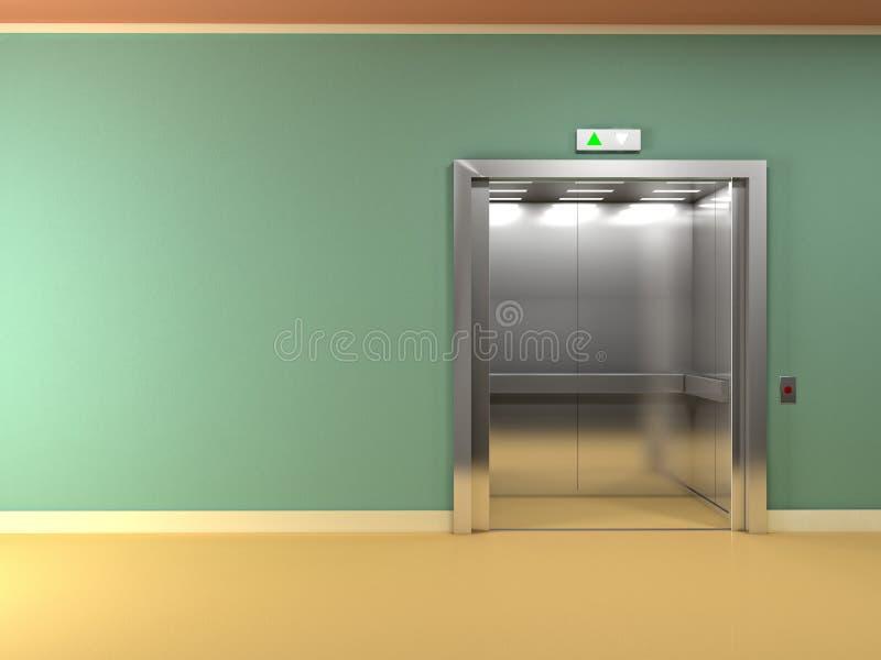 лифт металла 3d иллюстрация вектора
