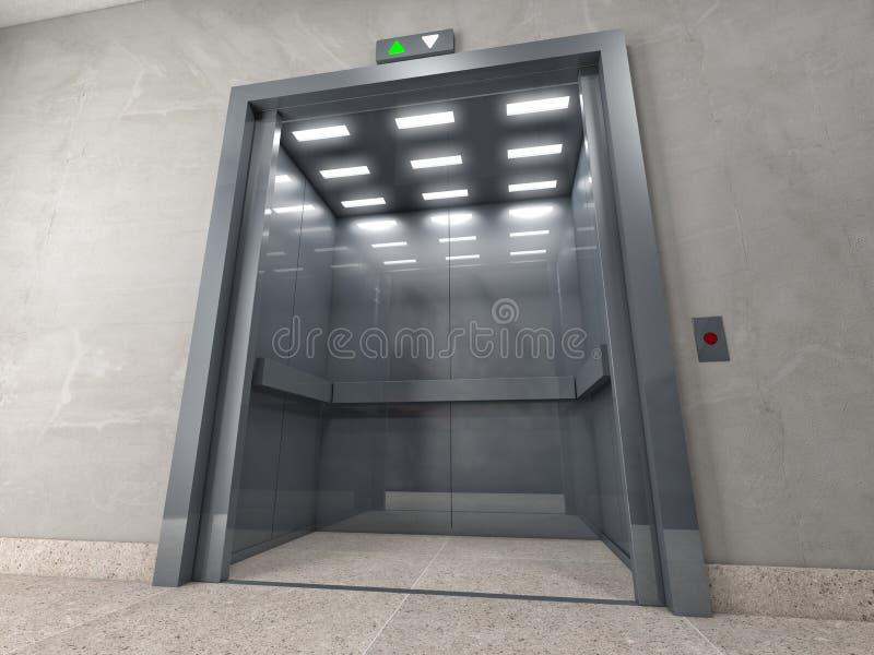 лифт иллюстрация штока