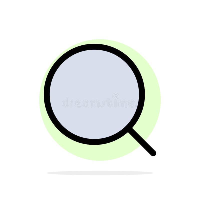 Ищите, увеличивайте, оборудуйте, значок цвета максимальной абстрактной предпосылки круга плоский иллюстрация вектора