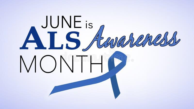 Июнь национальный месяц осведомленности ALS бесплатная иллюстрация