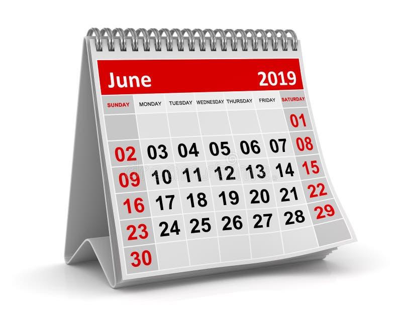Июнь 2019 бесплатная иллюстрация
