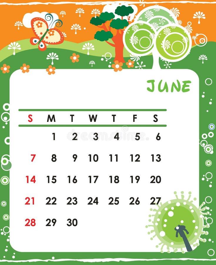 июнь иллюстрация вектора
