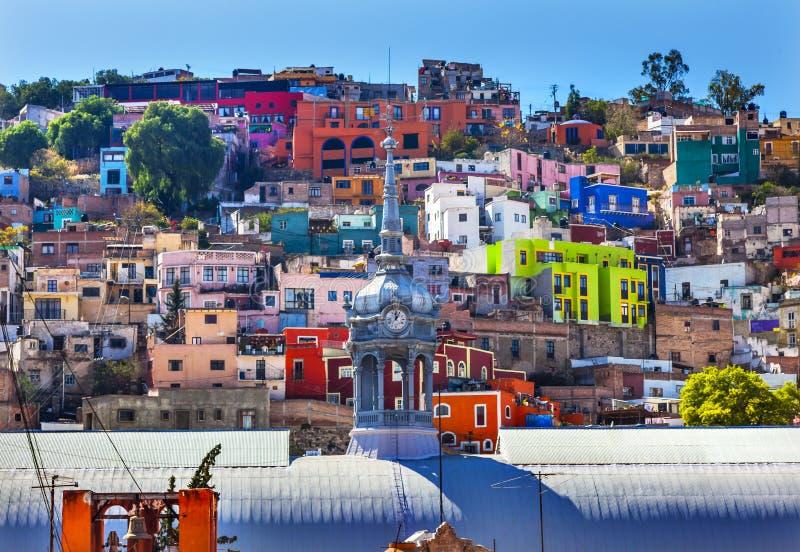 Идальго Гуанахуато Мексика Mercado рынка Iglesia de Сан Roque стоковая фотография