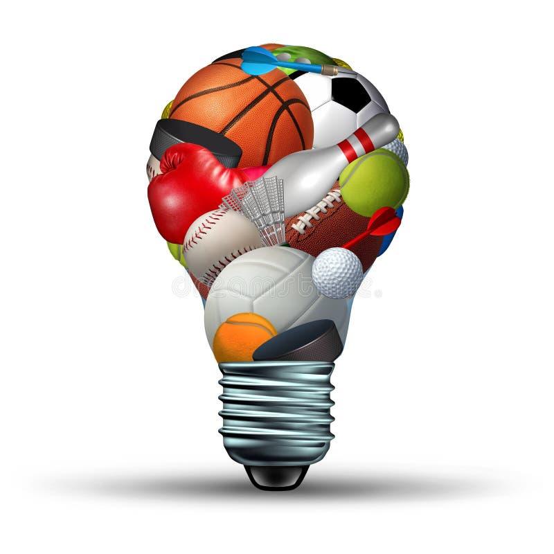 Идеи деятельности при спорт иллюстрация штока