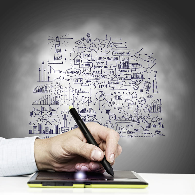 Download Идеи дела стоковое фото. изображение насчитывающей график - 41650438