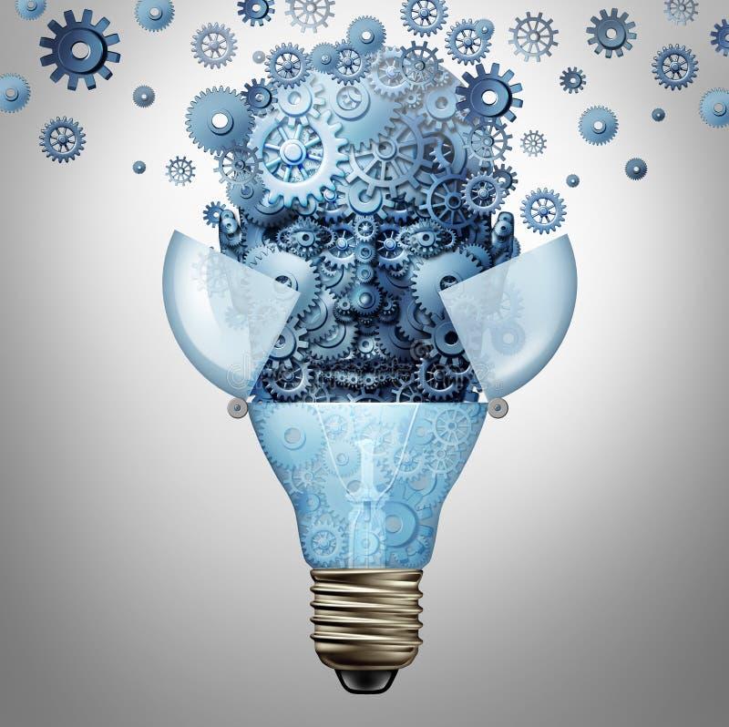 Идеи искусственного интеллекта иллюстрация вектора