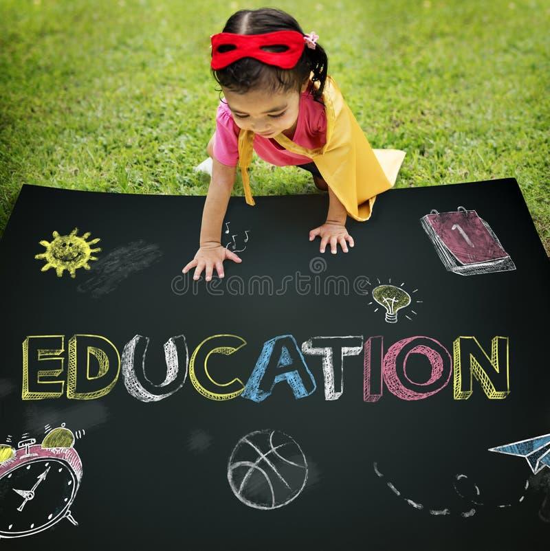 Идеи исследования учат концепцию детей стоковое изображение rf