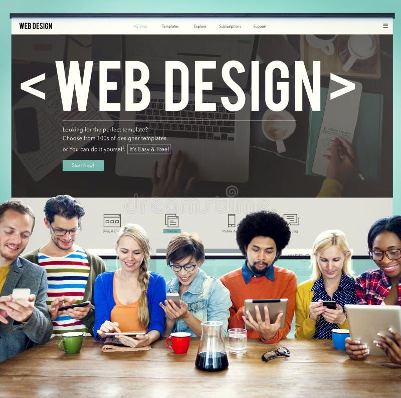 Идеи домашней страницы вебсайта веб-дизайна программируя концепцию стоковые изображения