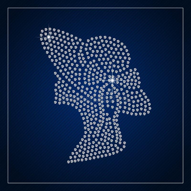 Идентичность диаманта клеймя иллюстрация вектора