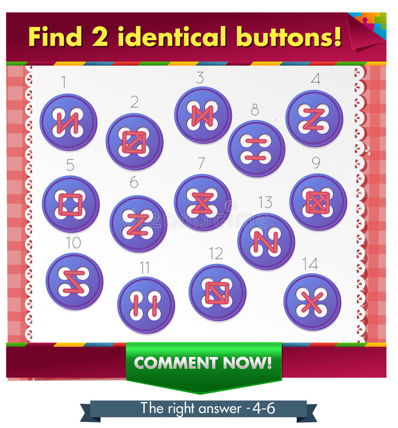 Идентичные кнопки 2 иллюстрация штока