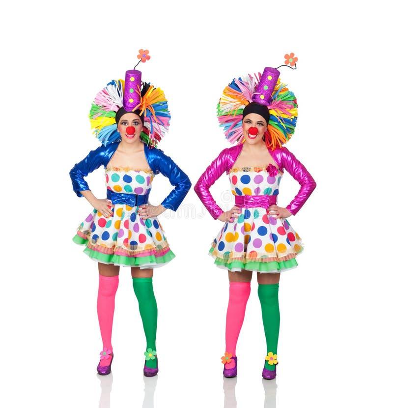 Идентичный женский клоун 2 стоковые изображения