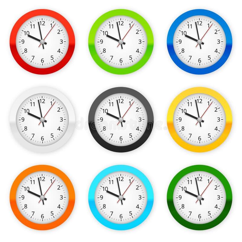 дилетант собрал изображение часа графиков часов меньший странный часовщик стены иллюстрация штока