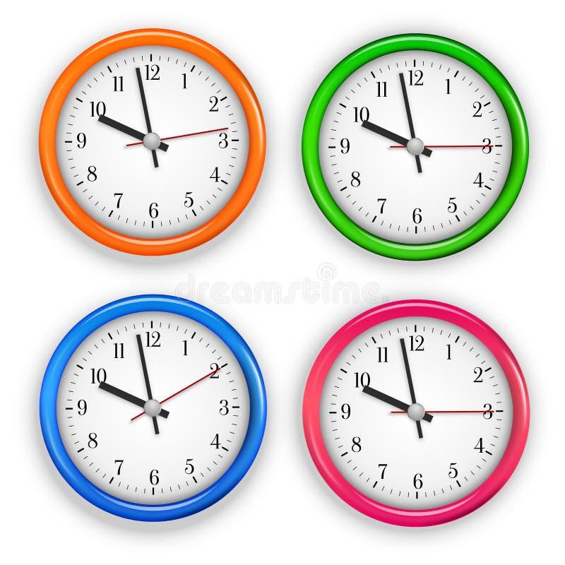 дилетант собрал изображение часа графиков часов меньший странный часовщик стены иллюстрация вектора