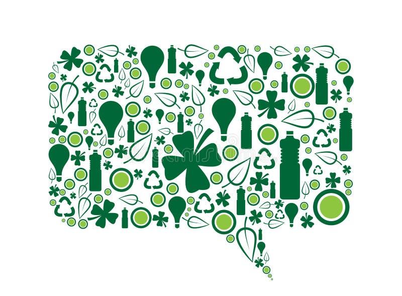 Идет зеленый пузырь речи иллюстрация вектора