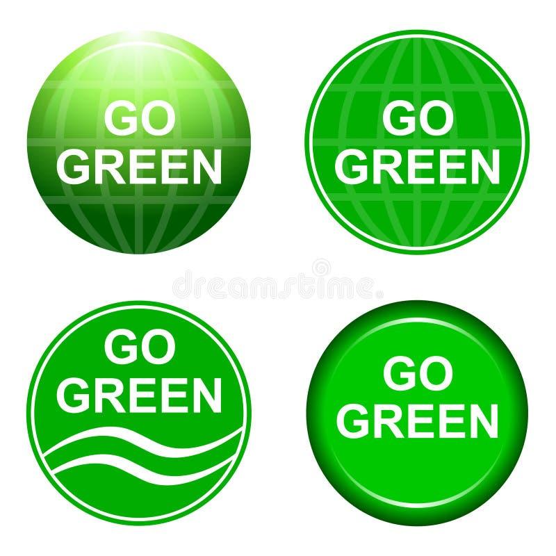 идет зеленый цвет рециркулирует иллюстрация штока