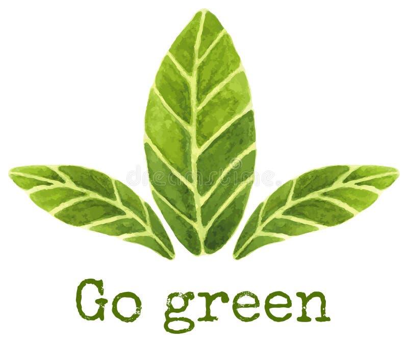 идет зеленый цвет рециркулирует иллюстрация вектора