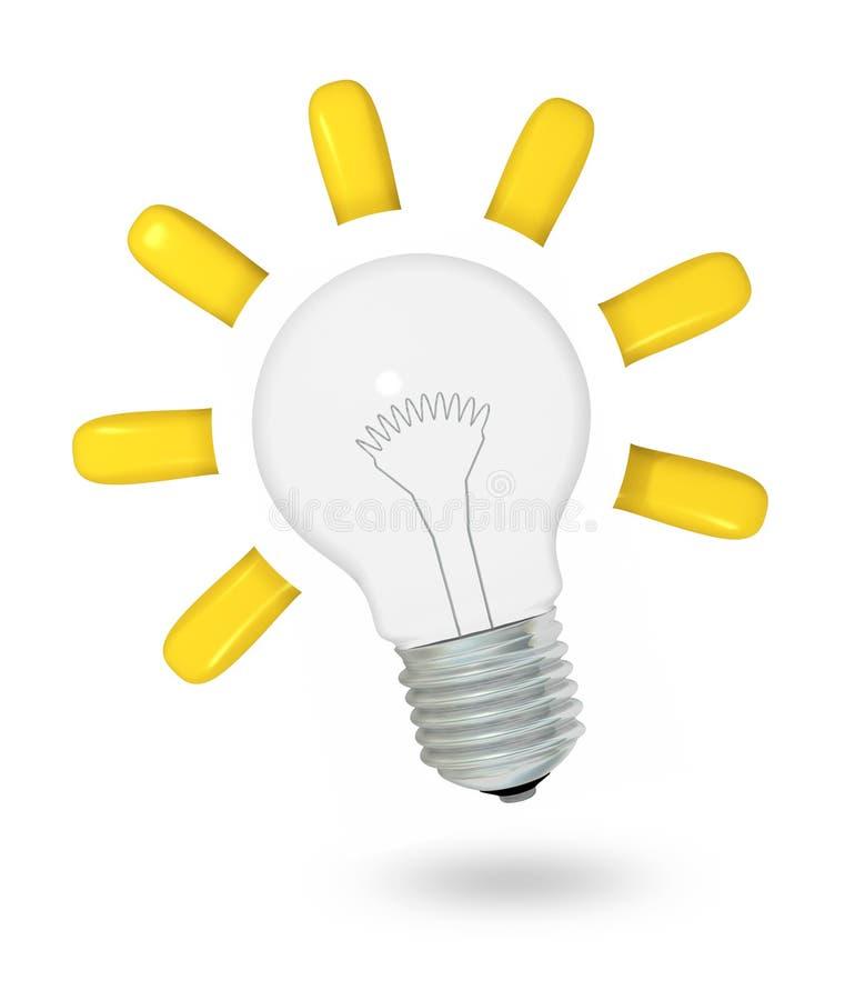 Идея лампочки иллюстрация вектора