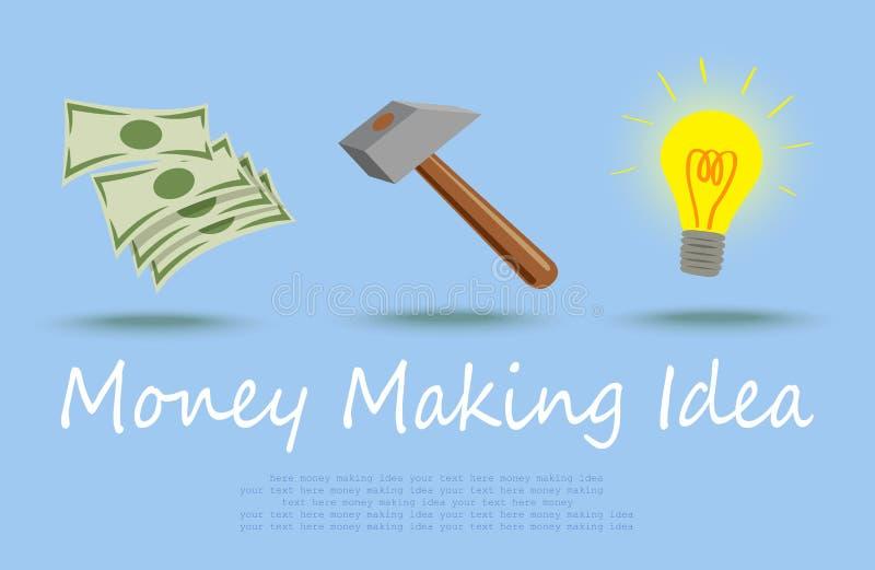идея зарабатывая деньги иллюстрация вектора
