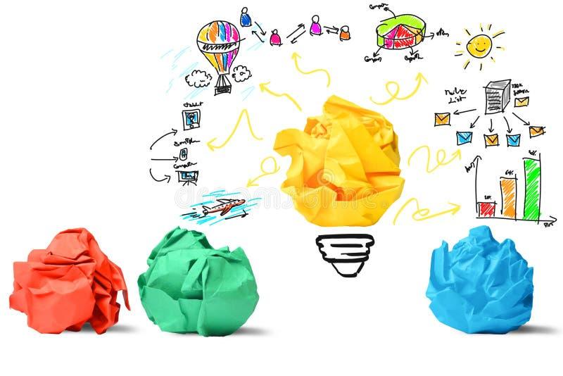 Идея и принципиальная схема нововведения стоковое изображение rf
