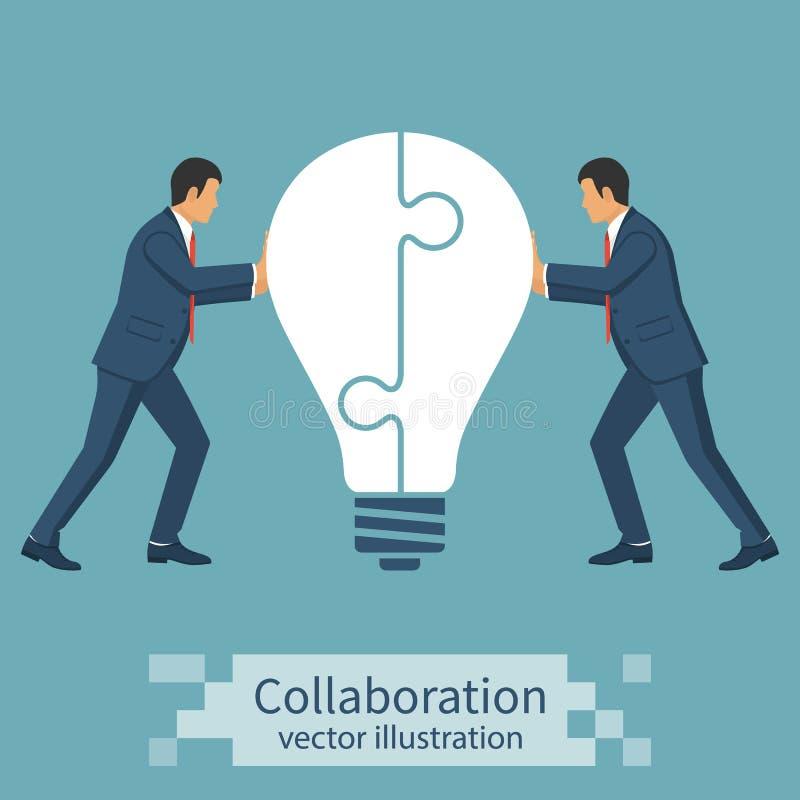 Идея концепции сотрудничества иллюстрация штока