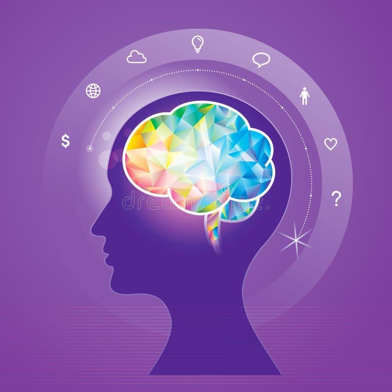 Идея мозга иллюстрация вектора