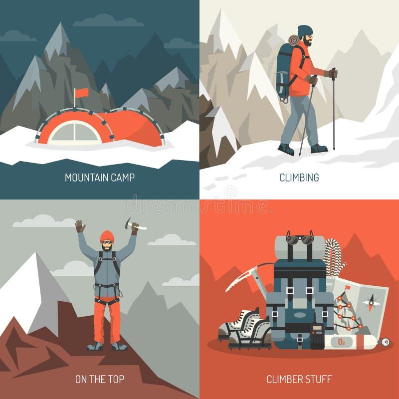 Идея проекта альпинизма иллюстрация штока