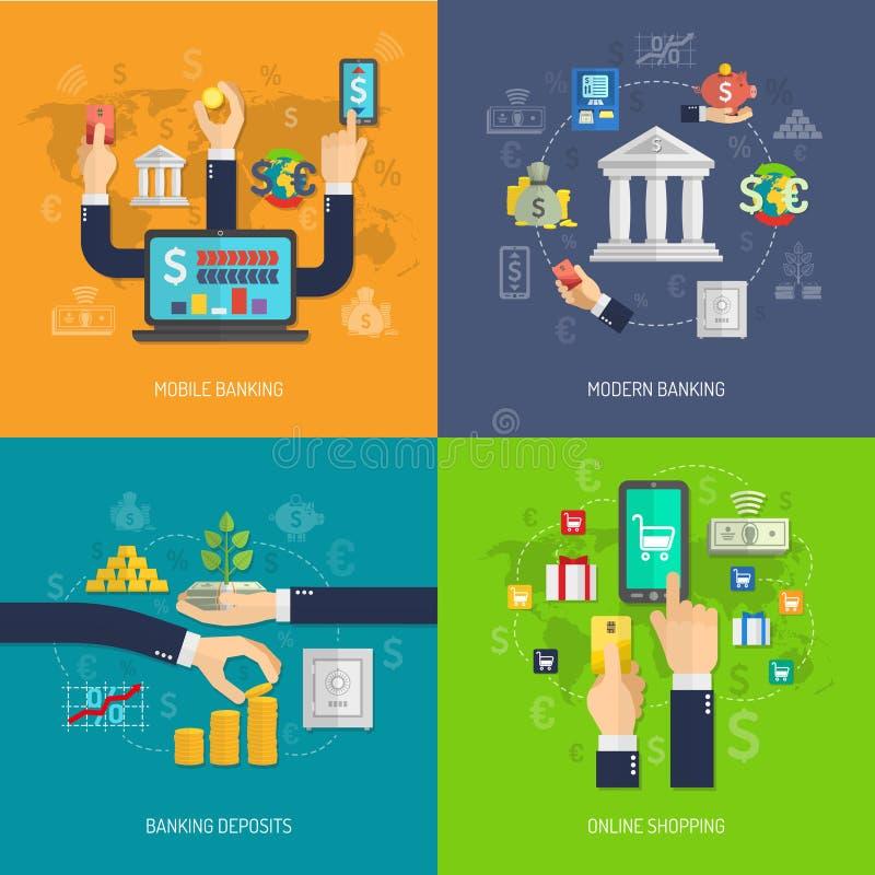 Идея проекта банка бесплатная иллюстрация