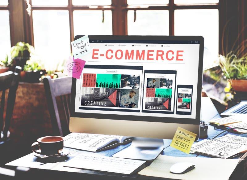 идея проекта дела электронной коммерции BusinE-дела E-commrce E-дела отзывчивая идея проекта ess отзывчивая стоковые изображения rf