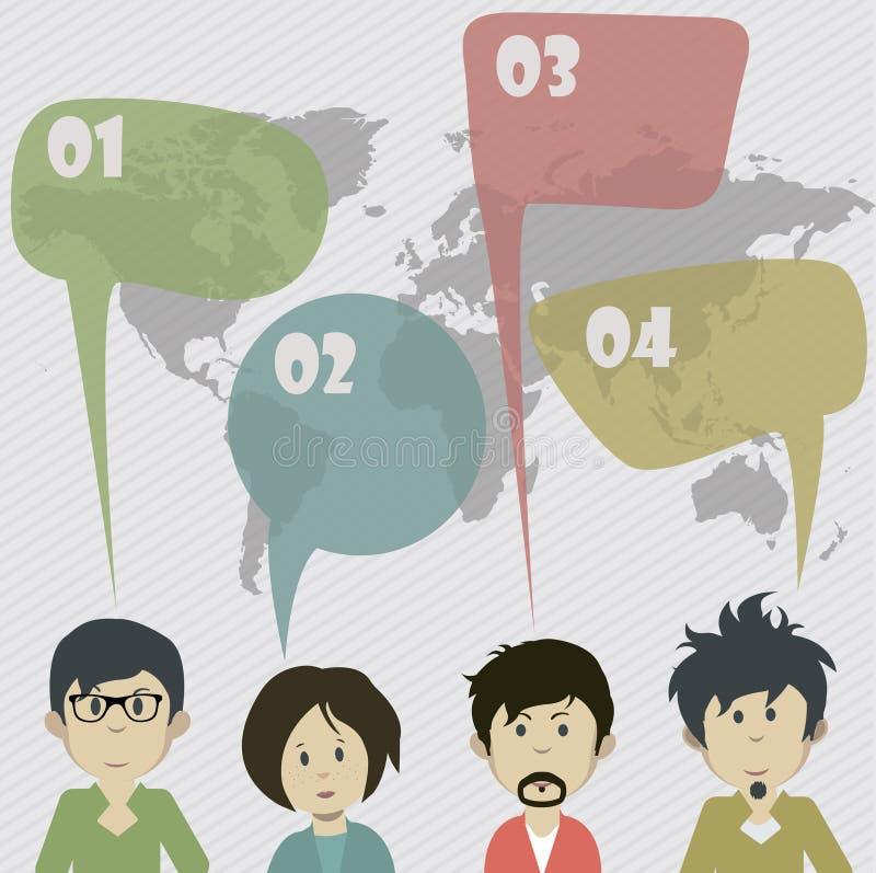 Идея социальной связи системы стоковое изображение rf