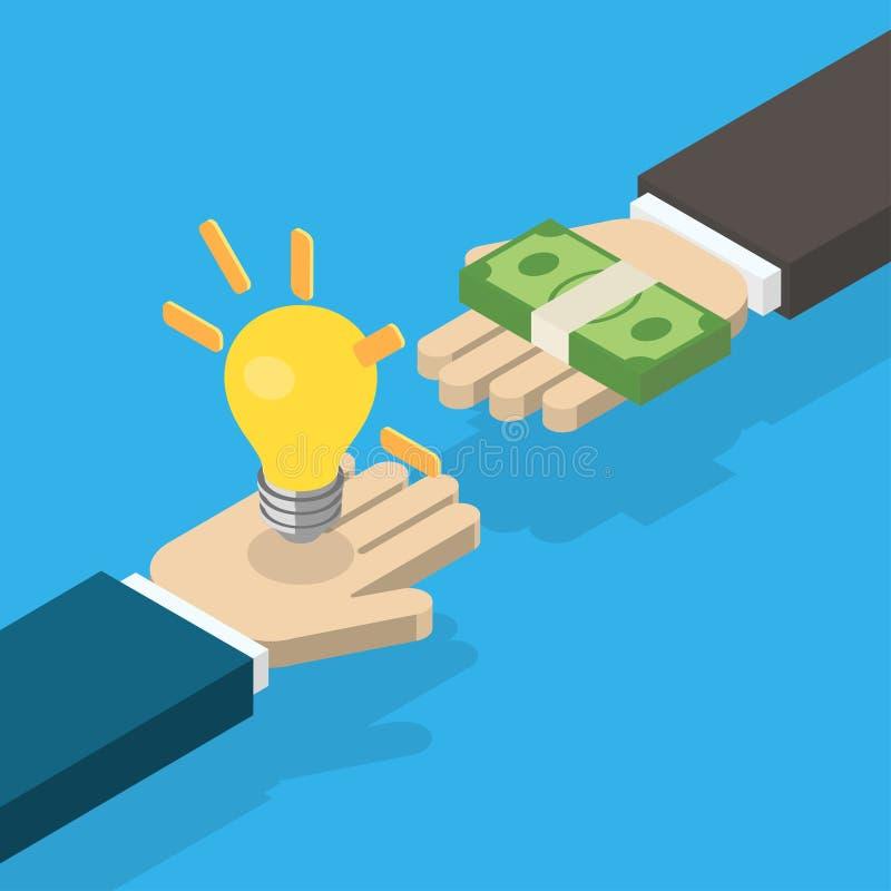 Идея торгуя для концепции денег бесплатная иллюстрация
