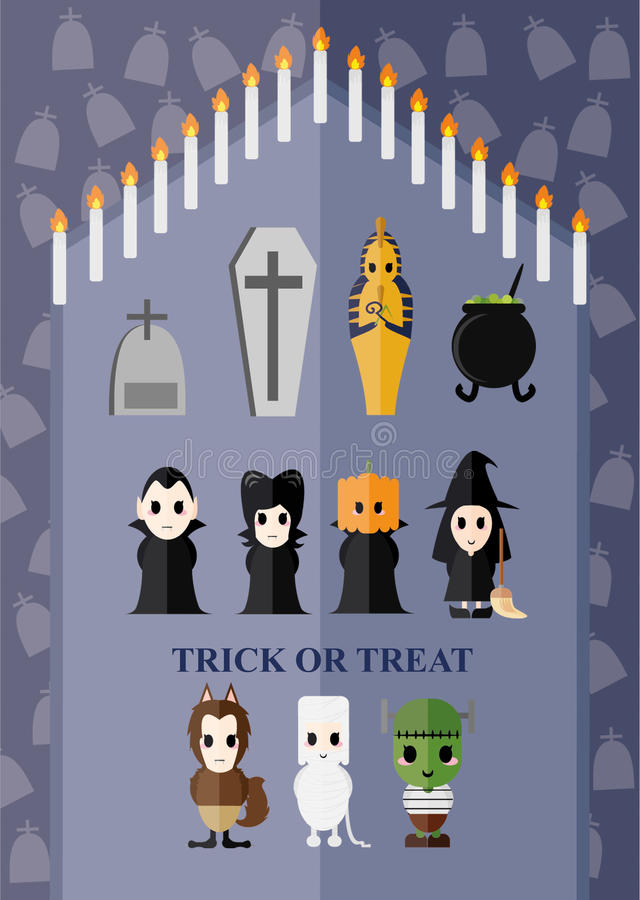 Идея характера призрака тем хеллоуина стоковое изображение rf