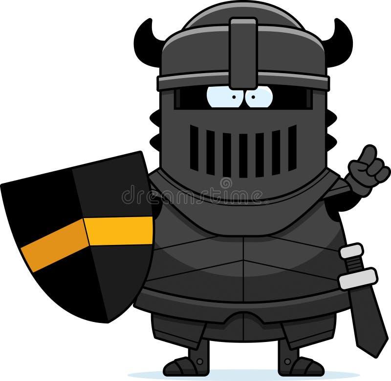 Идея черного рыцаря шаржа иллюстрация штока
