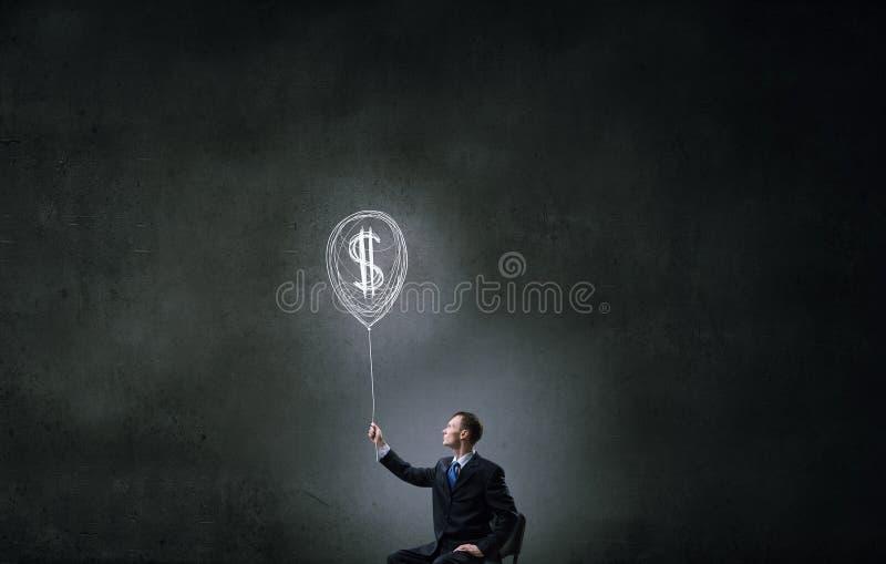 Идея для дохода денег стоковое изображение rf