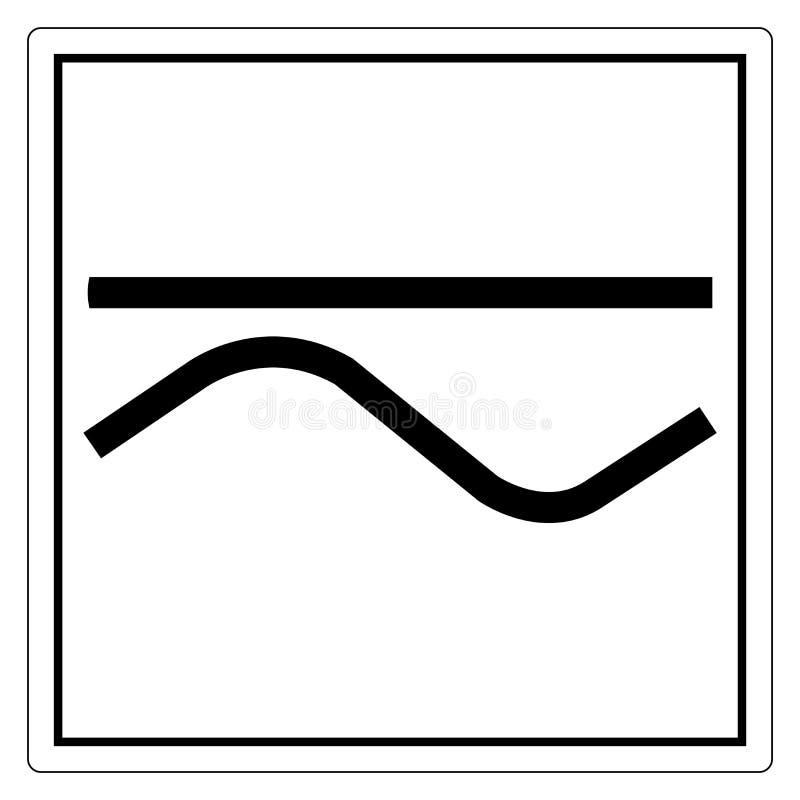 И знак сразу и переменного тока символа, иллюстрация вектора, изолят на белом ярлыке предпосылки EPS10 иллюстрация вектора